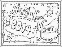 new year 2014 coloring pages for preschoolers