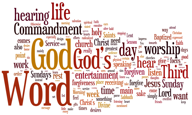 It Isn't About Entertainment Or Spiritual Jumping Jacks, But About Hearing The Lord's Word