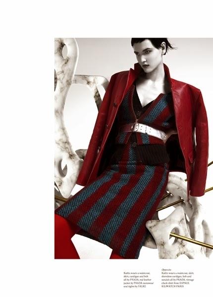 Prada RTW 2013 AW Pencil Skirt Suit