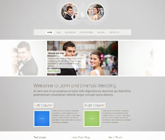 Getting Married Responsive WordPress Theme