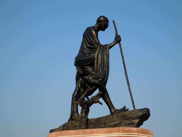 Mahatma Gandhi Statue on Marina Chennai, India 1954 | D. P. Roy Chowdhury 1899-1975 | Indian sculptor