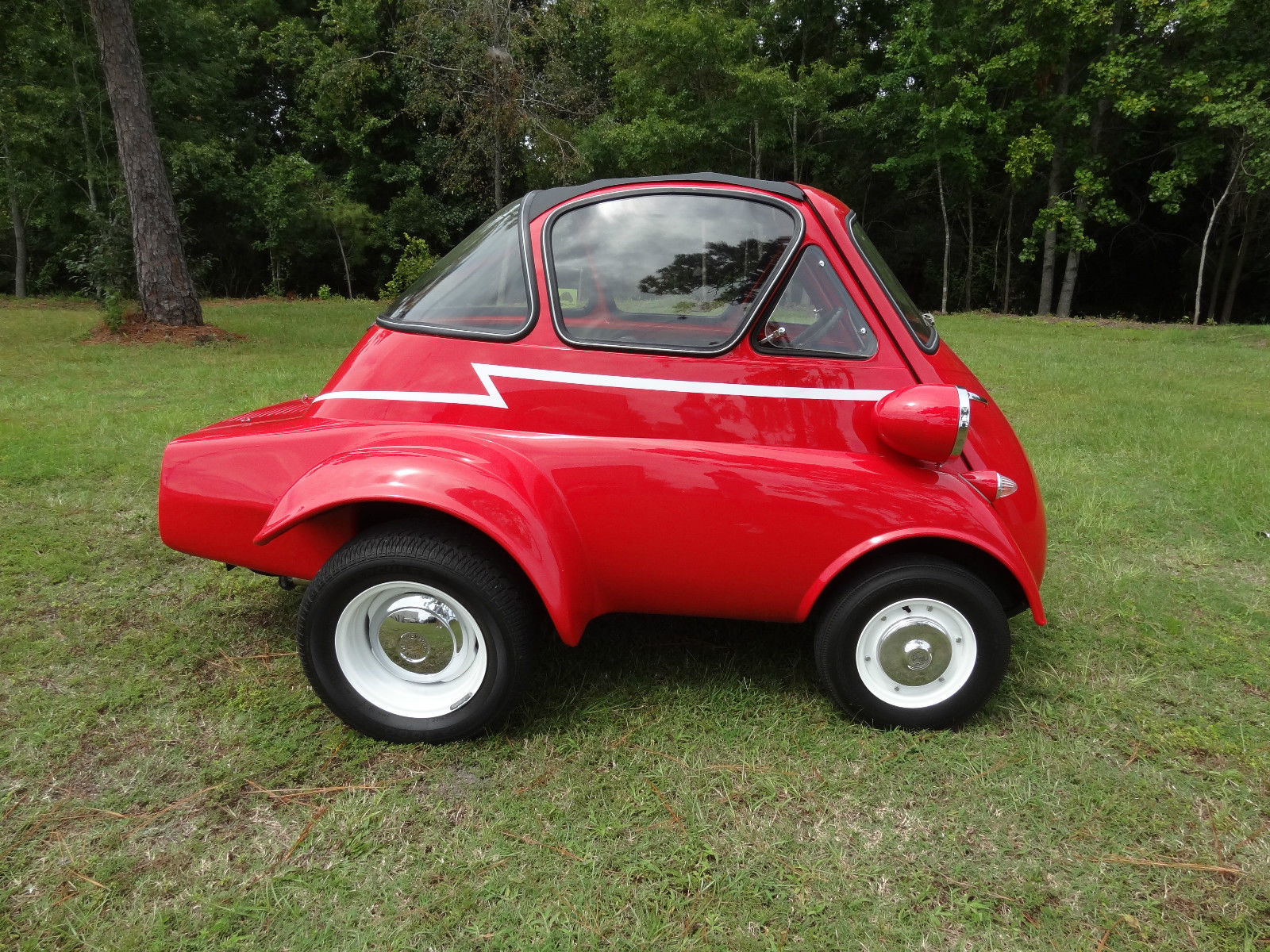 The Isetta was originally designed and built by Italian refrigerator  manufacturer Iso and produced by various manufacturing entities from 1953  through 1962.