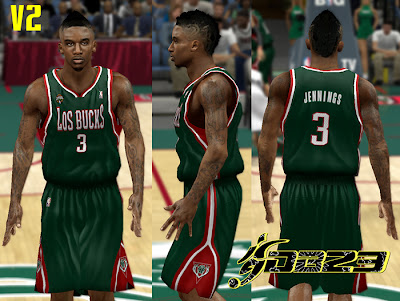 NBA 2K13 Bucks Fictional Noche Latina Jersey Mod