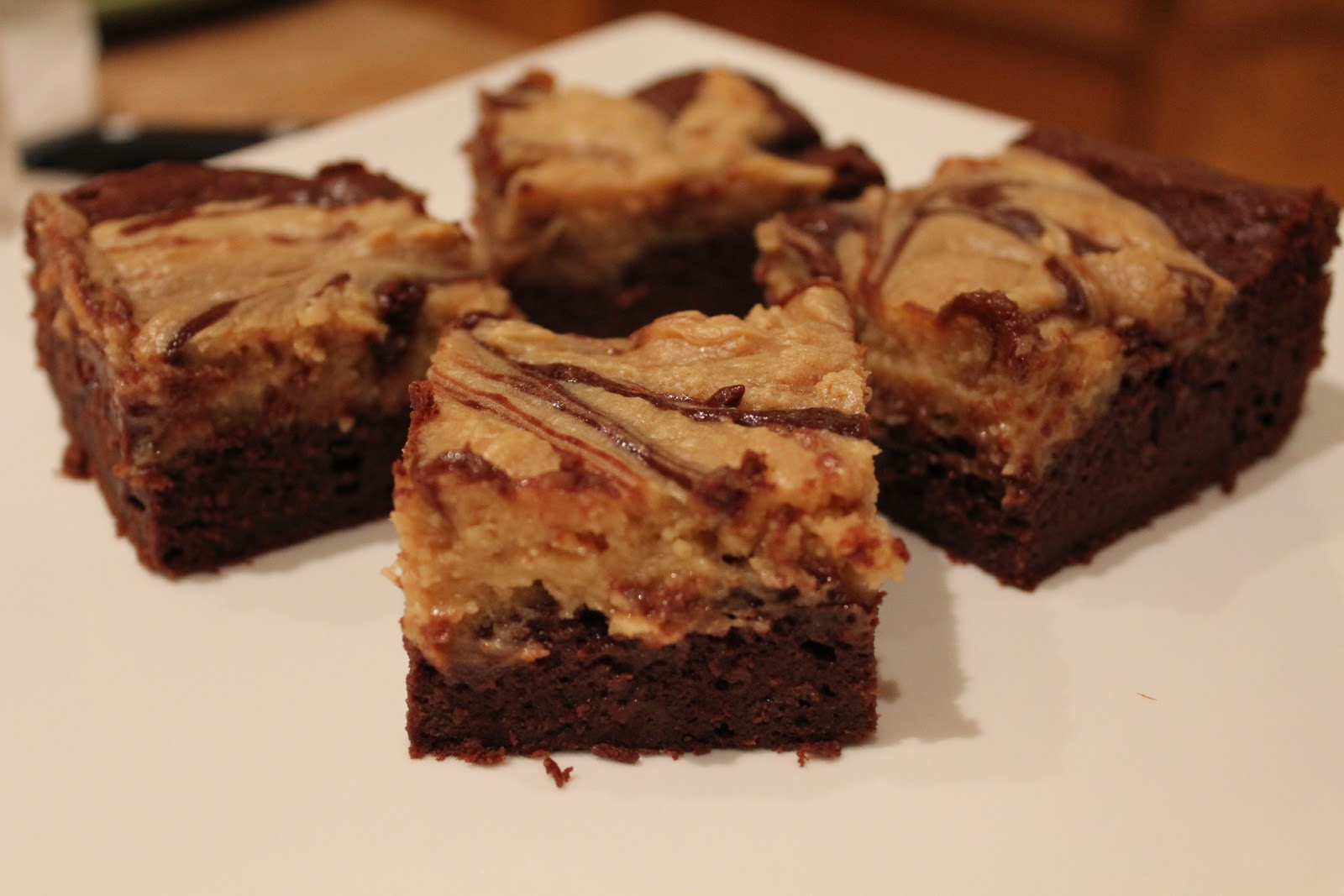... ?: Sweet Treats Saturday: Peanut Butter Cheesecake Swirl Brownies