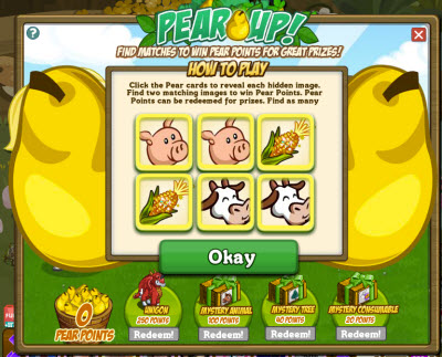 FarmVille Pear Up Game