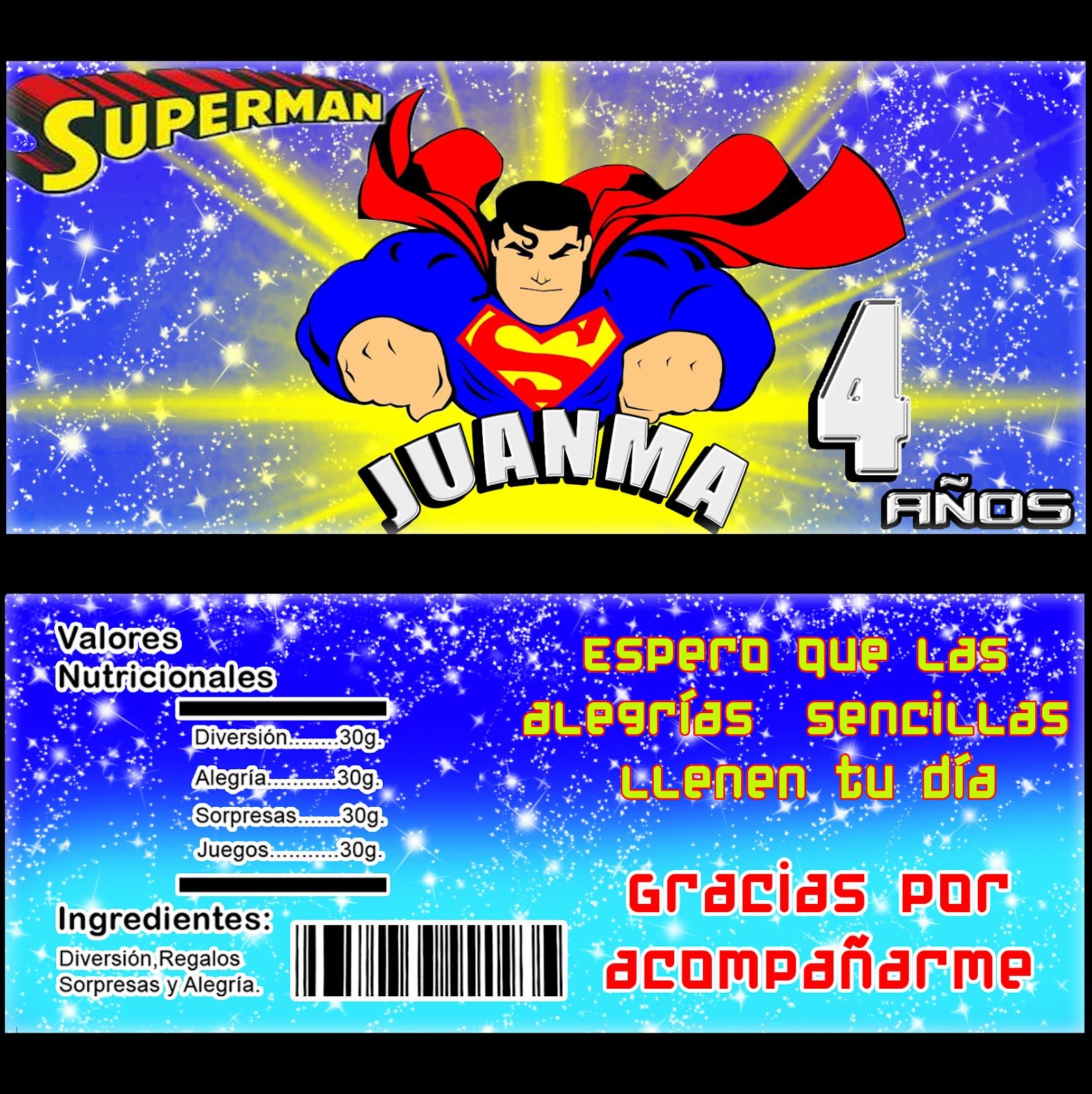 KITS IMPRIMIBLES Kit Imprimible Superman invitaciones Cumpleaños