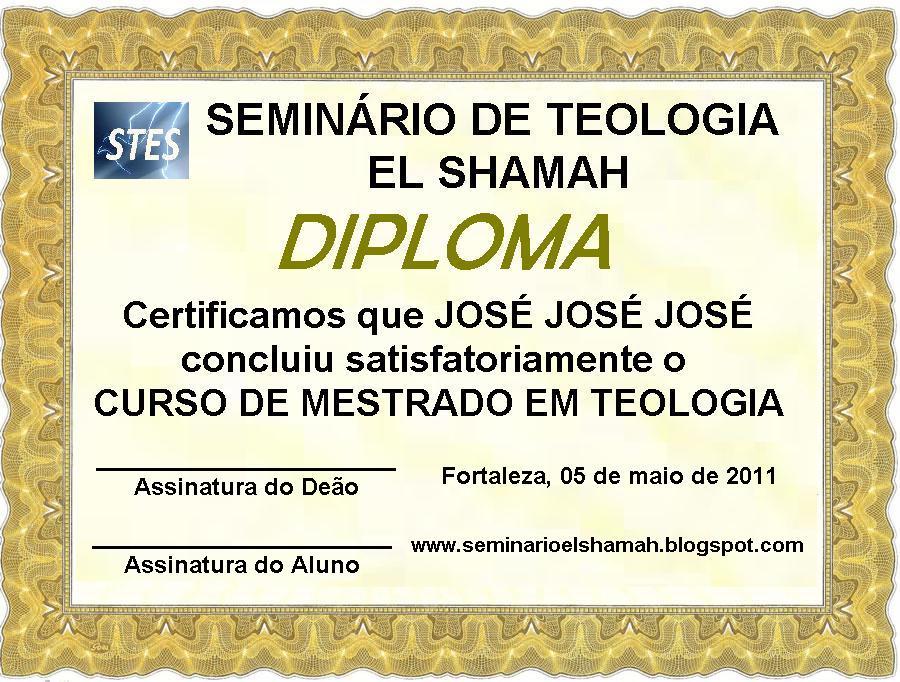 Diploma de bacharel em teologia