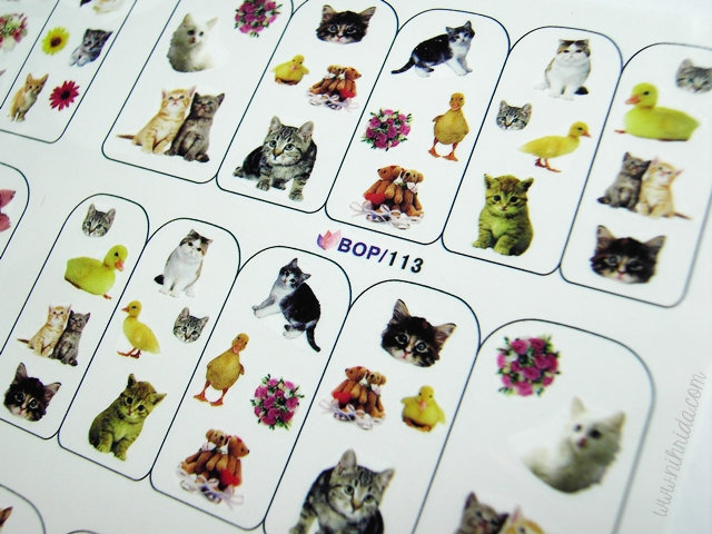 Born Pretty Store Water Nail Decals Cats Dogs