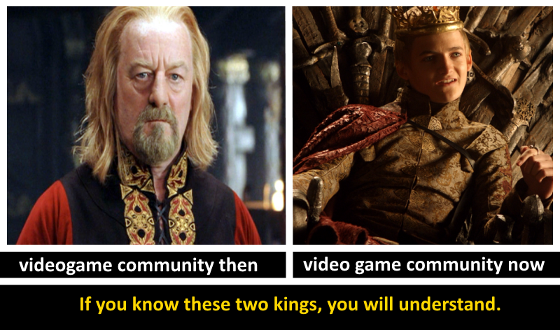 Videogame community then and now