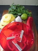 Pineapple Salsa in Tupperware Quick Chef