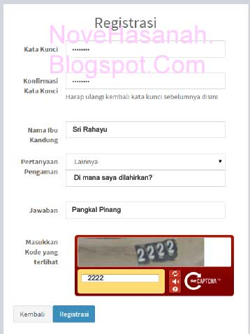 Cara Registrasi PUPNS 2015 di BKN Secara Online 2