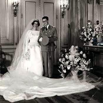 casas y familias reales: bélgica - boda de balduino y fabiola