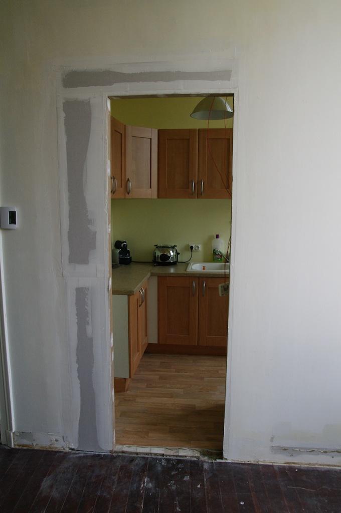 Notre maison en cours de r novation on passe au salon - Ouverture cloison placo ...