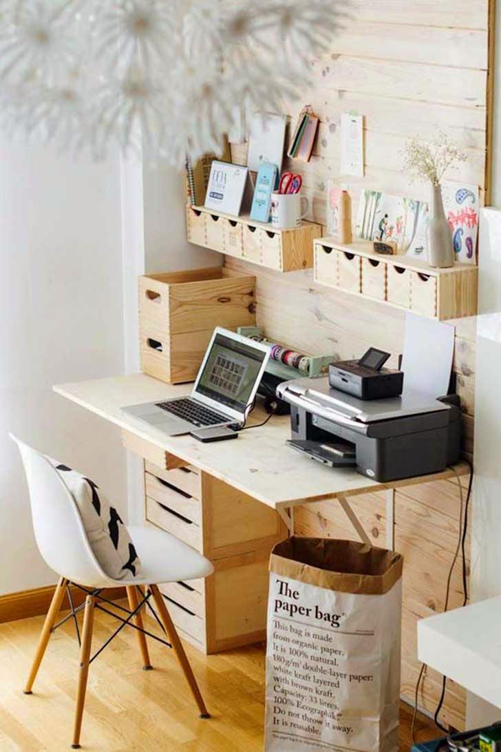 14 ideas que har n que tu espacio de trabajo se vea y este mejor organizado quiero m s dise o. Black Bedroom Furniture Sets. Home Design Ideas