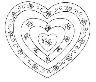 Riscos para pintura de corações