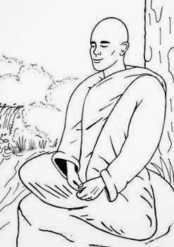 Monje budista. Luz para el alma