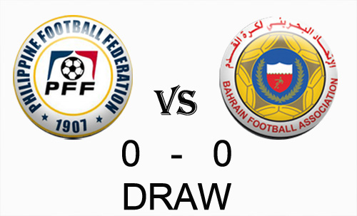Azkals vs Bahrain score Draw October 12 Game