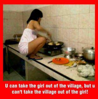 Village girl funny