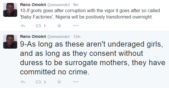 Reno Omokri Makes a Case for 'Baby Factories'