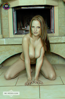 "Carmen Gemini - ""Farmhouse"" 3D by Mc-Nudes 1 (Tubbea, Beatrix, Monika A) nude redhead on all fours breasts squeezed together"