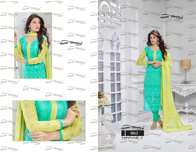 Buy Pure Chiffon Dress Material – Wholesale