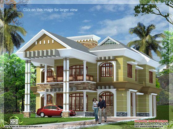 September 2012 kerala home design and floor plans for Luxury villa plan