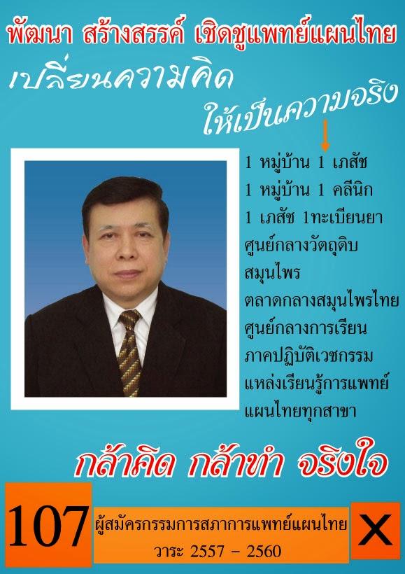 ผู้สมัครกรรมการสภาการแพทย์แผนไทย