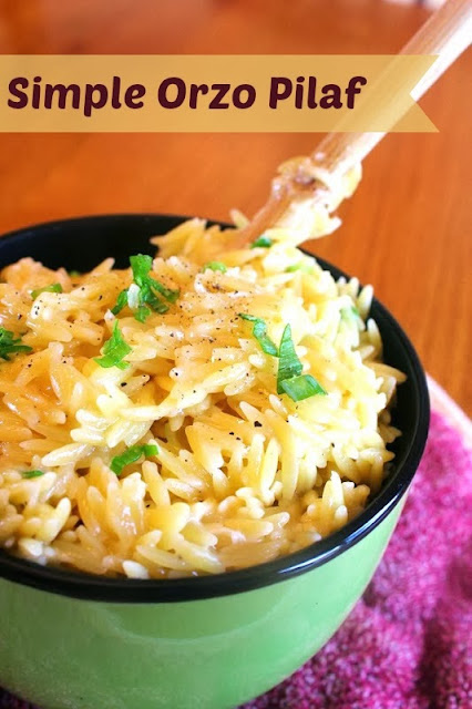 Simple Orzo Pilaf