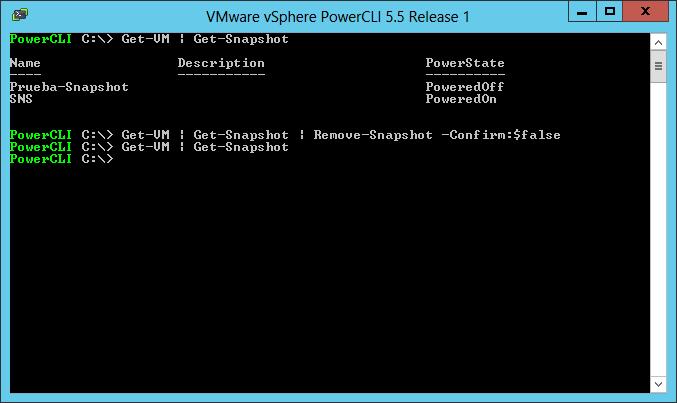 VMWare: Borrar todos los snapshots de todas las VMs con PowerCLI