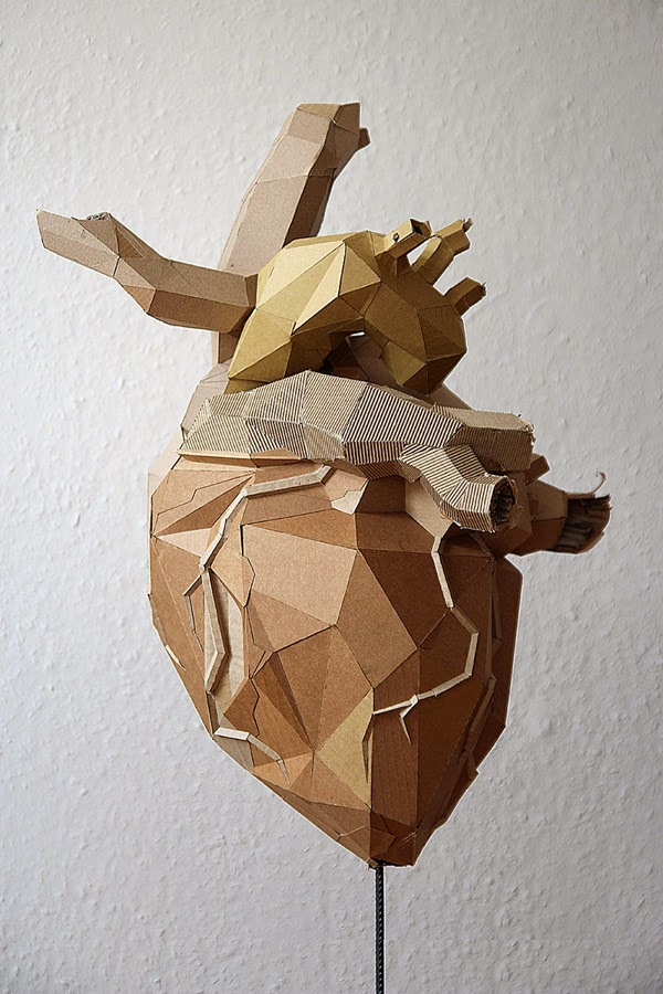 06-Heart-Bartek-Elsner-Understated-Cardboard-Sculptures-www-designstack-co