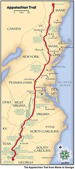 Appalachian Trail, 2181 miles