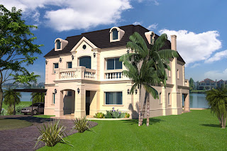 3d makers casas estilo frances nordelta for Casas modernas nordelta