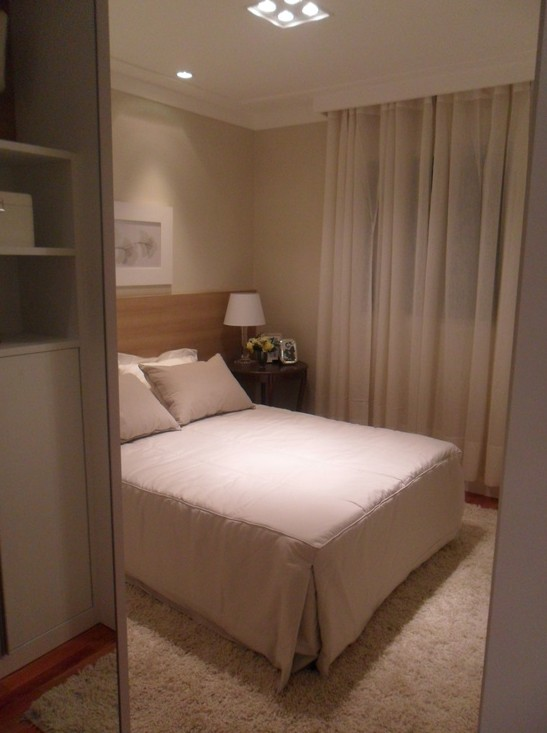 Meu Palácio de 64m² Decoração para quarto de casal ~ Quarto Pequeno Mas Aconchegante