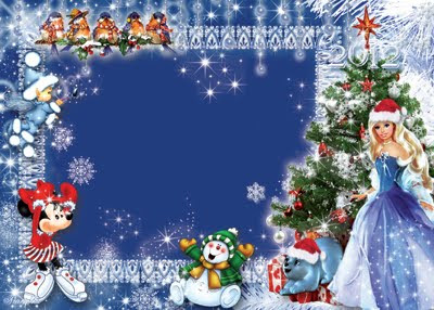 Portaretratos Disney PSD navideño para poner tus fotos