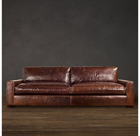 Leather Sofa | Copy Cat Chic: Restoration Hardware Maxwell Leather
