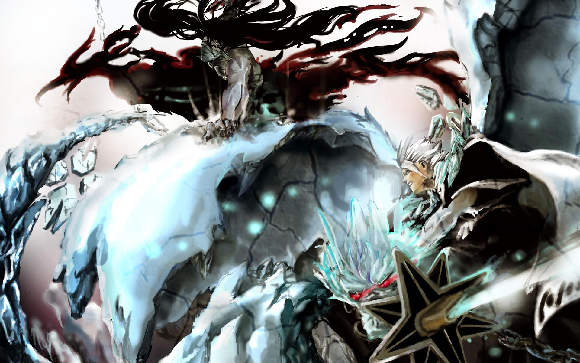 ichigo vs toshiro 4o wallpaper hd