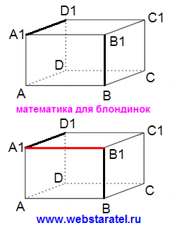 Прямоугольный параллелепипед перпендикулярные ребра. Общий перпендикуляр к двум ребрам прямоугольного параллелепипеда. Математика для блондинок.