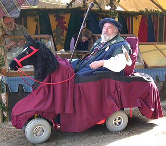 Renaissance Fair Wheelchair Art Car