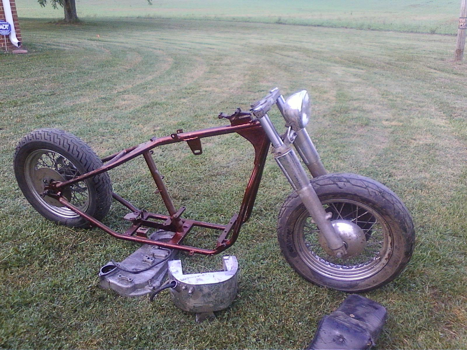 Making It On Used Harley Bones: rigid roller, wishbone frame, $1200 ...