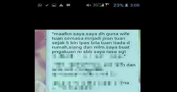 Suami Berang Terima SMS Maafkan Saya Guna Wife Tuan
