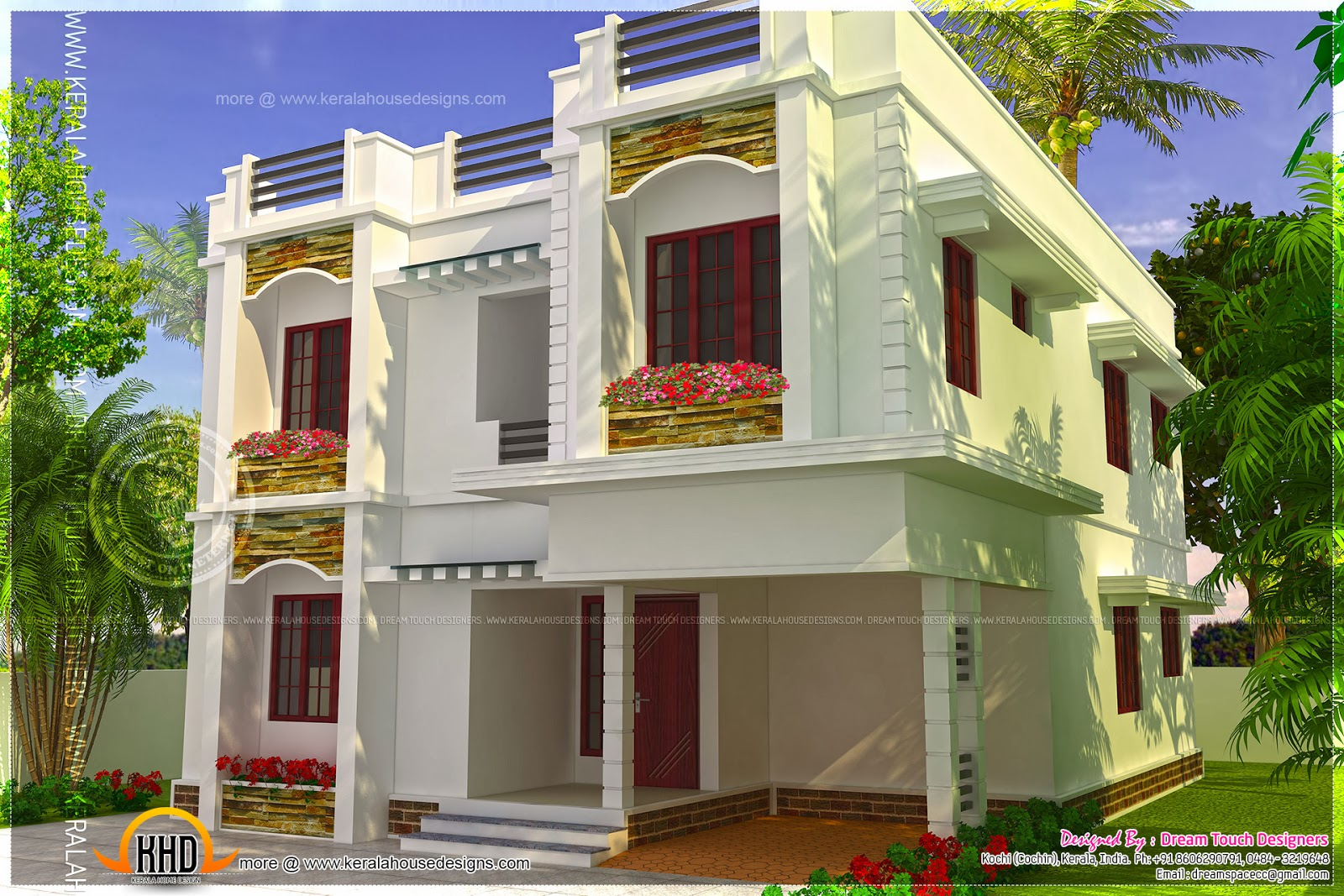 4 bedroom modern villa in 232 square meter kerala home for 4 bedroom villa designs