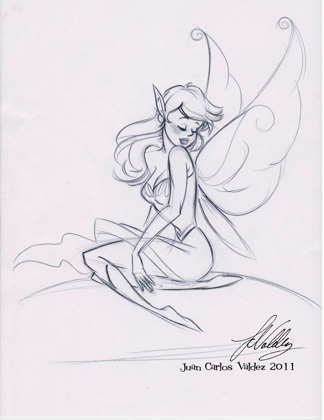 Displaying 19> Images For - Simple Pencil Drawings Of Fairies...