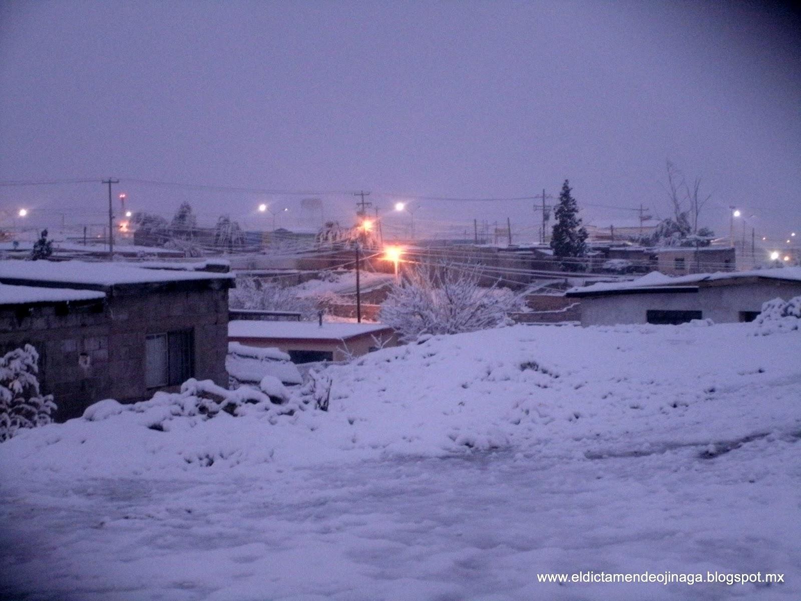 Pintada de blanco amanece Ojinaga, y continuara la nieve durante el ...