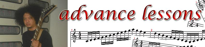 advance guitar lessons