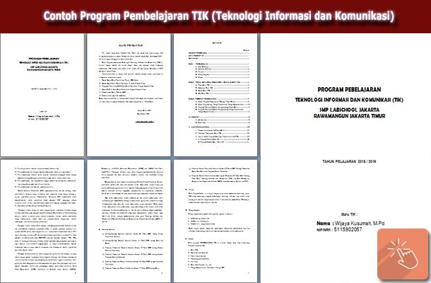 Contoh Program Pembelajaran TIK (Teknologi Informasi dan Komunikasi)