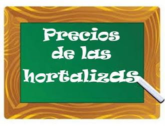 PIZARRA DE PRECIOS AGRÍCOLAS