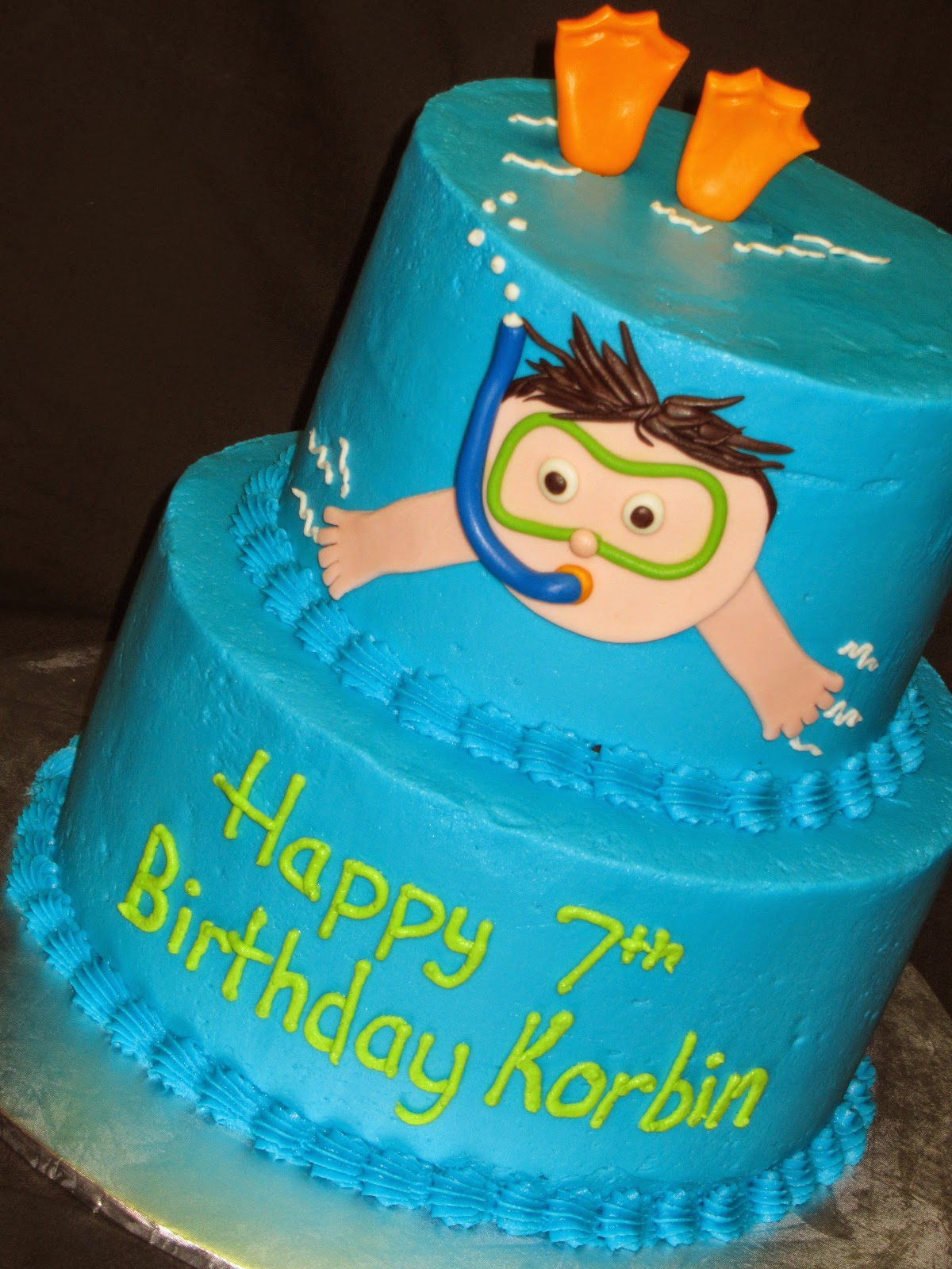 Cakes by kristen h - Swimming pool birthday cake pictures ...