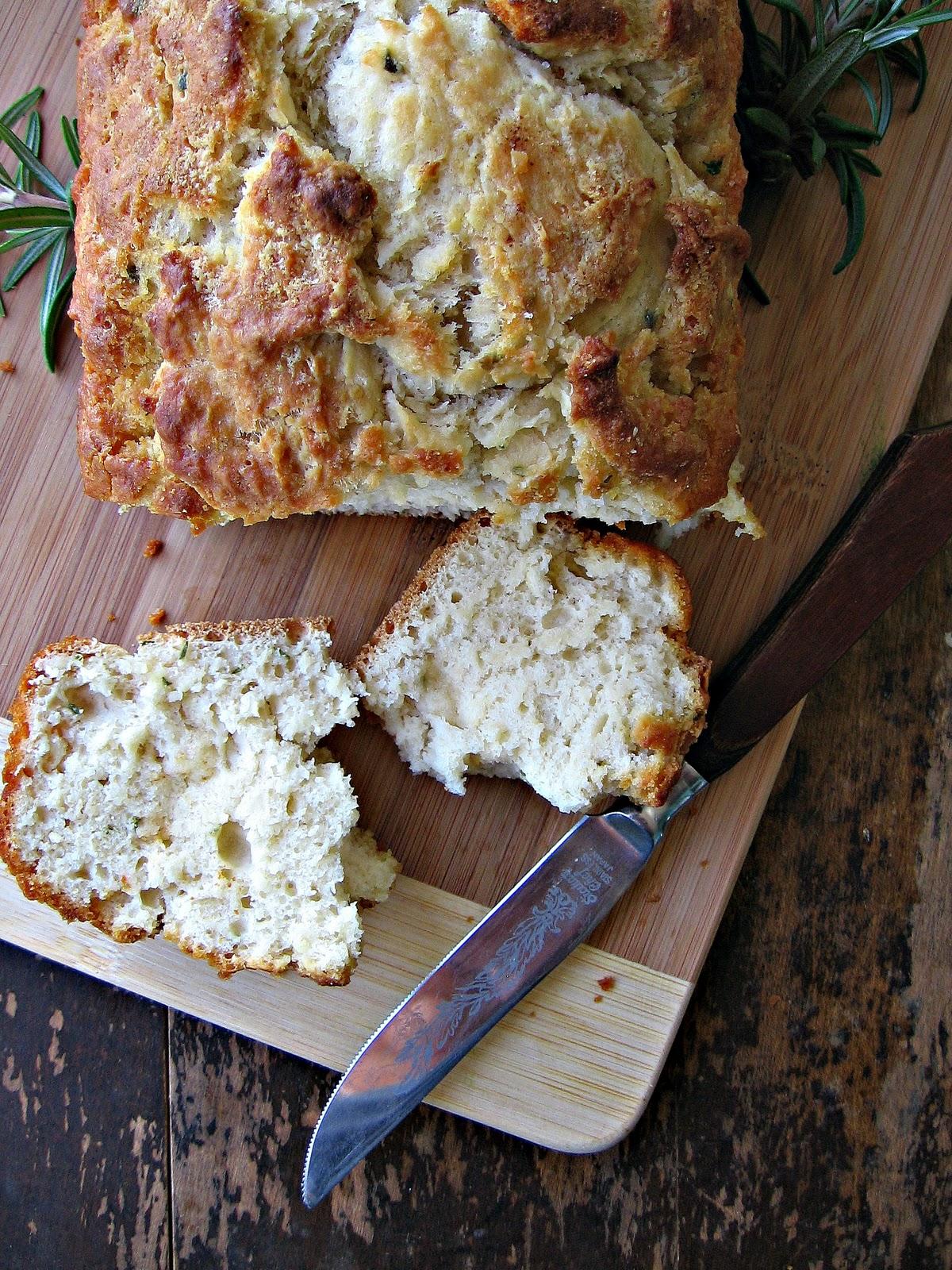 sweetsugarbean: Bacon, Potato & Leek Soup with Rosemary Beer Bread