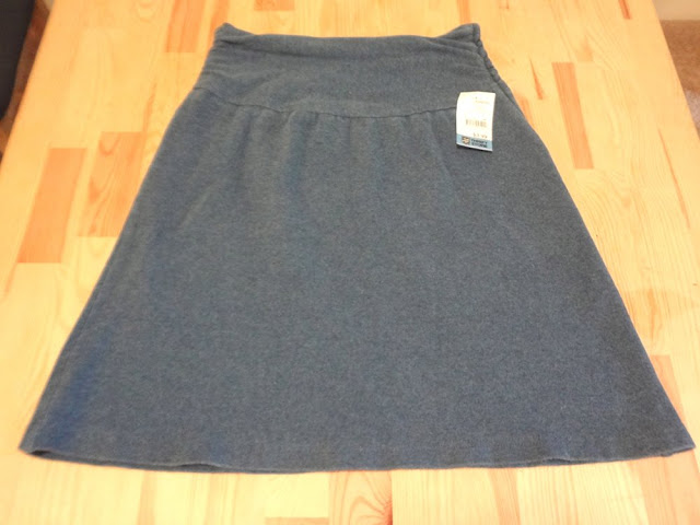 blue grey high waisted skirt