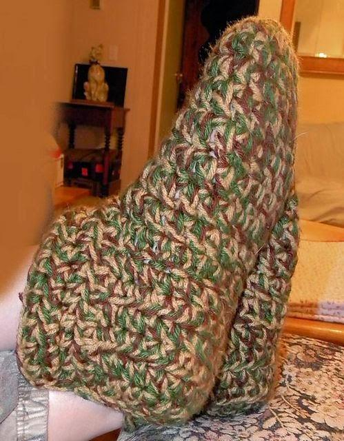 Fast & Easy Crocheted Slippers